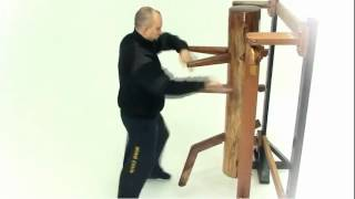 1st form at Wooden dummy. SiFu Igor Tunik.
