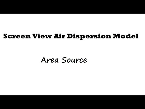 Screen View Air Concentration Dispersion Modeling for Area Source