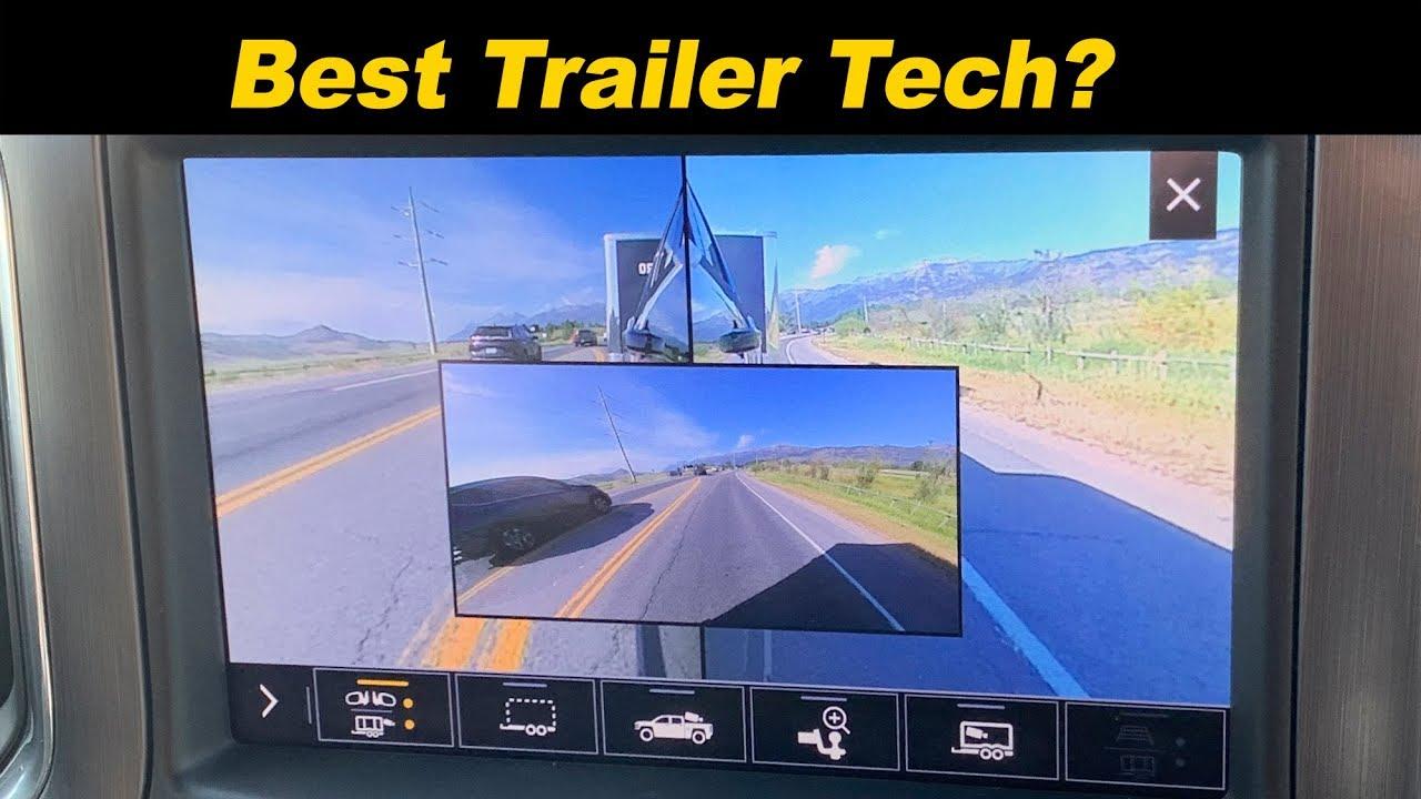 Gmc Sierra Chevy Silverado Trailering Tech Cameras Galore Youtube