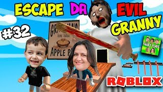 Roblox LET'S RUN AWAY FROM GRANNY granny WICKED!! (Evil Granny Escape) Family Plays