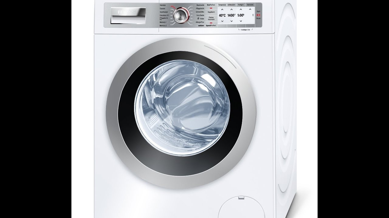 bosch way28742 waschmaschine youtube. Black Bedroom Furniture Sets. Home Design Ideas