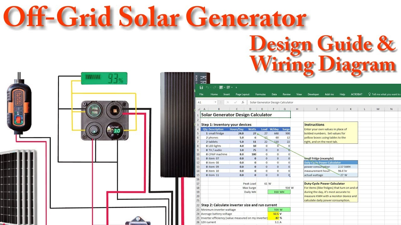 Mins Generator Wiring Diagram Reinvent Your Generac Sel Engine Diy Solar Builders Guide Engineer Own In 13 Rh Youtube Com 6 Volt Diagrams