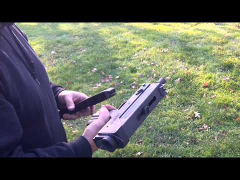 MAC 10 Full Auto SubMachine Gun Shooting in the Backyard