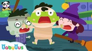 【萬聖節👻】萬聖節派對開始了!怪物們在哪裡?   手指兒歌   童謠   動畫   卡通   寶寶巴士   奇奇   妙妙