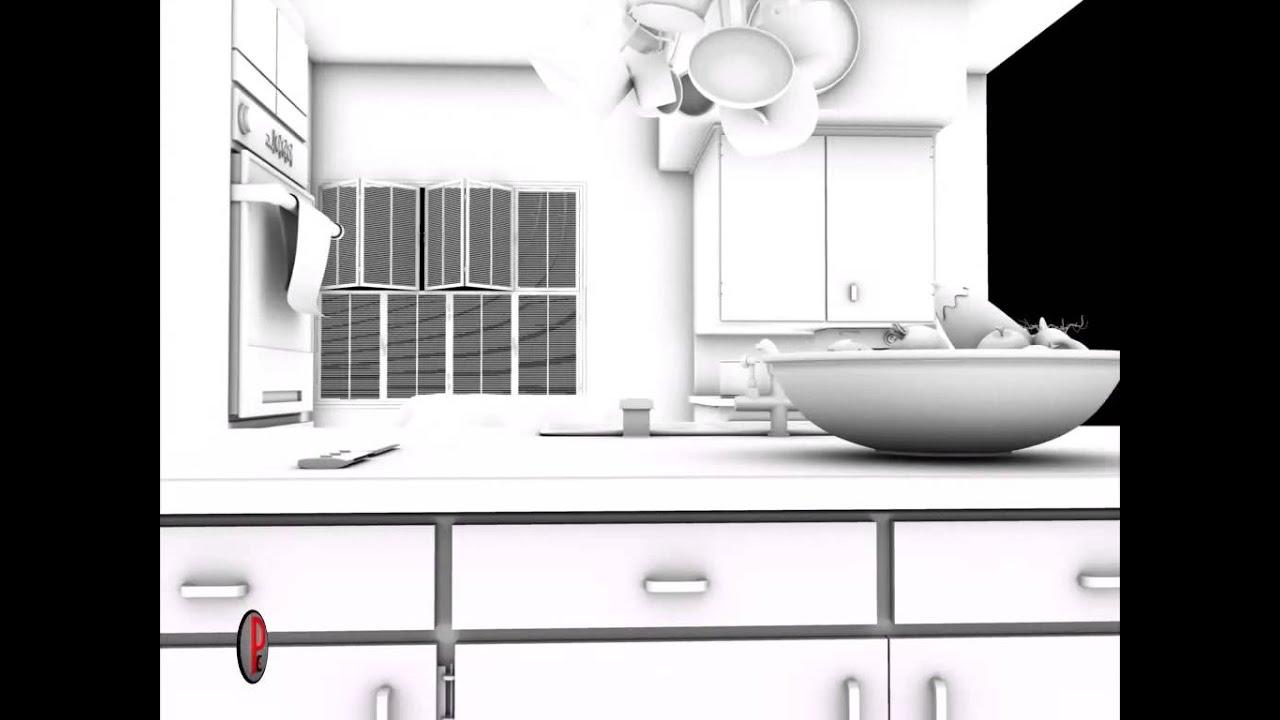Kitchen Modeling 3d Kitchen Modeling Youtube