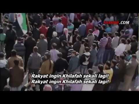 Ribuan Rakyat Suriah Teriakkan Rakyat Ingin Khilafah Sekali Lagi!, Allepo (Halab) Suriah, Maret 2012