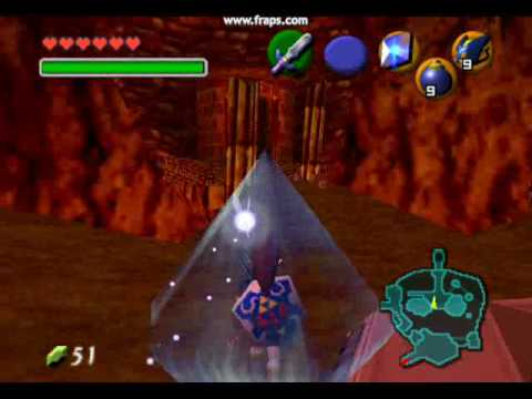 how to get to the fire warp ocarina of time
