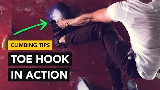Rock Climbing Tips: How to Toe Hook properly to send this bouldering problem