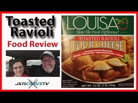 Louisa | Four Cheese Toasted Ravioli | Taste Test & Review | JKMCraveTV