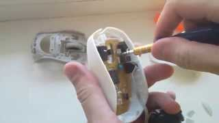 How to disassemble Logitech M125 white corded mouse