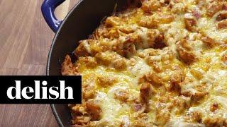 How To Make A BBQ Chicken Cornbread Skillet  Delish