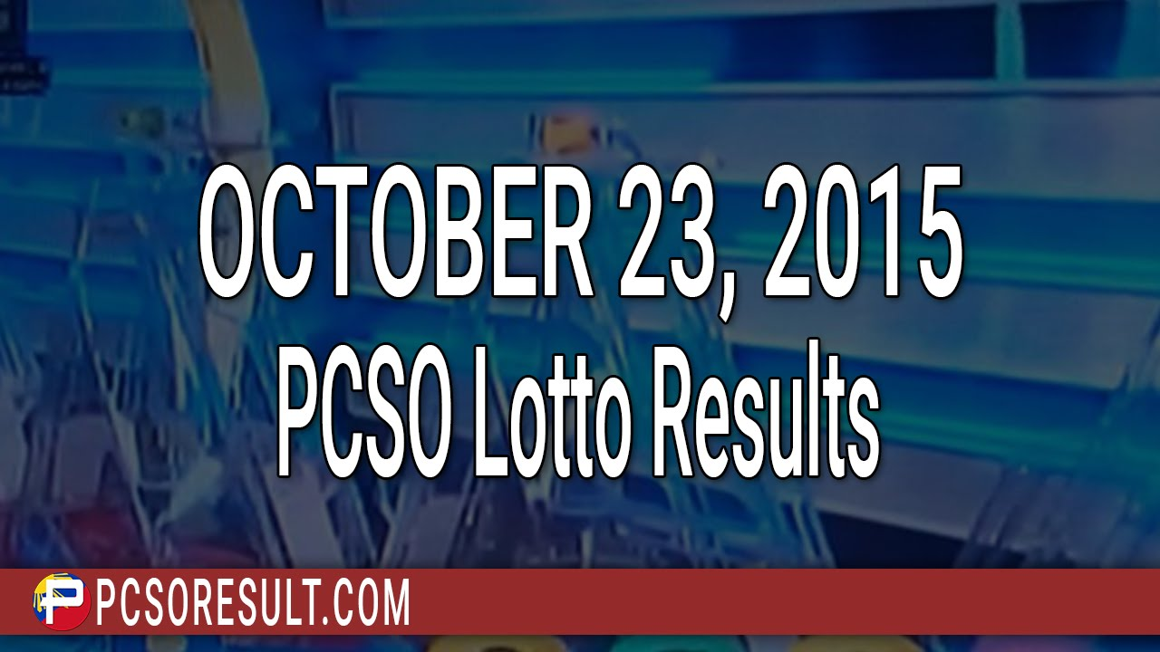 PCSO Lotto Results October 23, 2015 (6/58, 6/45, 4D, Swertres & EZ2) - YouTube