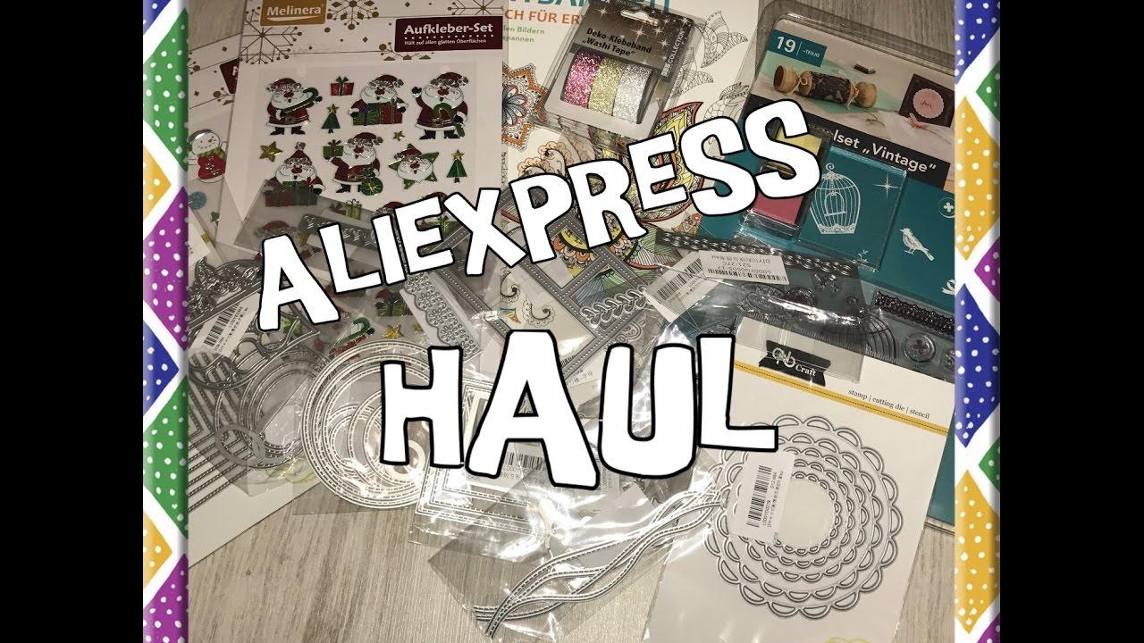 Aliexpress Haul Deutsch Onlineshop Stanzschablonen Sizzix