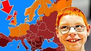 Карта рыжих людей, 15 самых необычных географических карт
