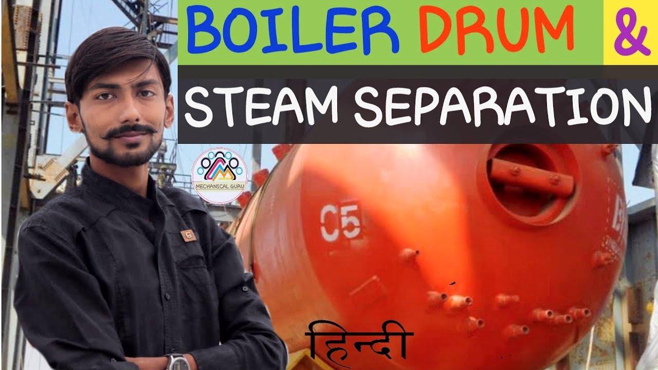 [HINDI] BOILER DRUM & INTERNALS ~ STEAM SEPARATION ~ CYCLONE SEPARATOR , TURBO SEPARATOR & MORE