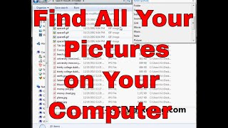 How to search for PICTURES and IMAGE files in Windows 7
