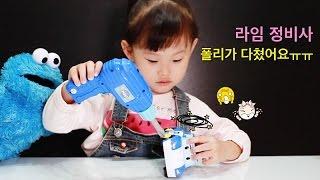 라임이의 로보카 폴리 전동 공구 장난감 놀이 Robocar poli Toys Car Play Робокар Поли Игрушки おもちゃ 라임튜브