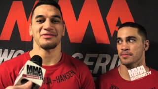 Hansen brothers Brenson & Bryson talks about WSOF 9 wins, move from Hawaii to Vegas