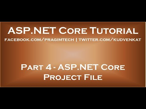 ASP NET Core Project File