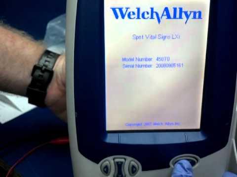 Welch allyn spot vital signs monitor