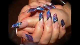 Новый стиль маникюра - ногти эйдж. Необычная форма ногтей эйдж