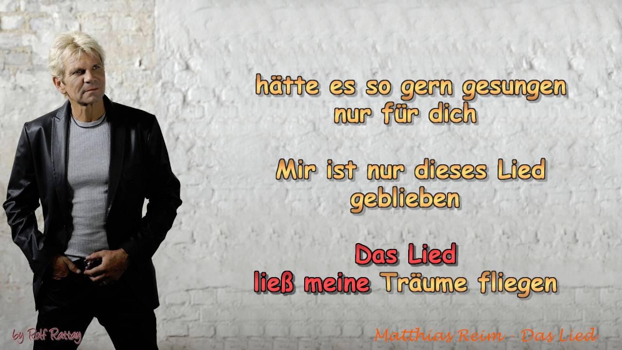 matthias reim - das lied