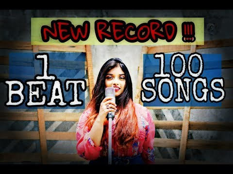 1 BEAT  100 SONGS New Record FIRST FEMALE   Srushti Barlewar