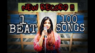 1 BEAT 100 SONGS (New Record) FIRST FEMALE COVER Srushti Barlewar