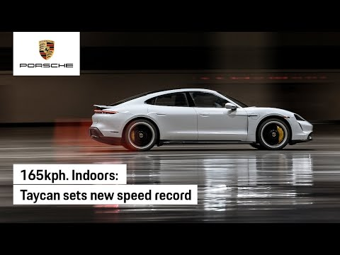 Taycan Sets New Guinness World Records™ Title for Indoor Land Speed
