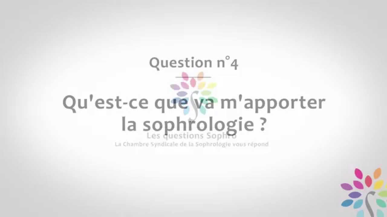 Qu'est ce que va m'apporter la sophrologie?