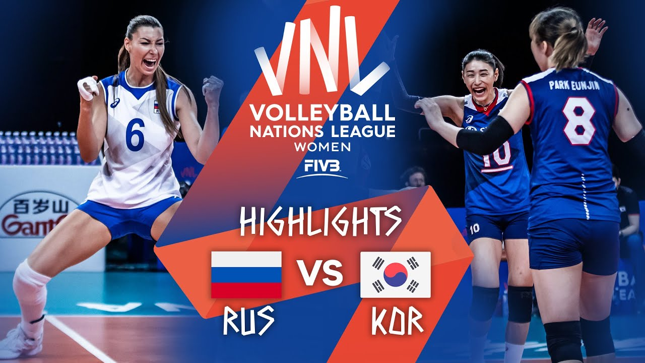 Download Russia vs. Korea - FIVB Volleyball Nations League - Women - Match Highlights, 12/06/2021