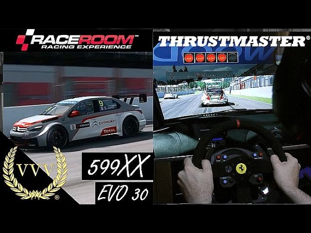 Thrustmaster 599 Rim, R3E Spa Gameplay