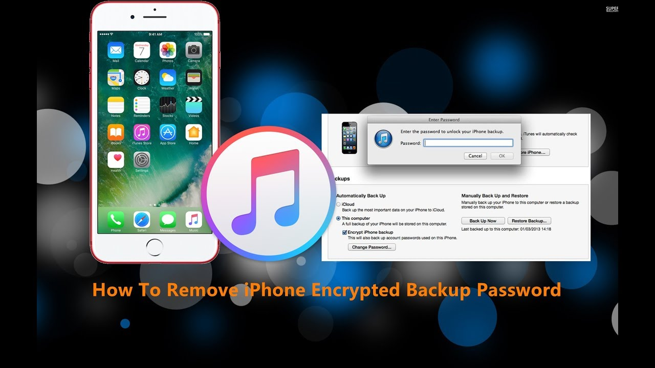 turn off encrypted backup itunes