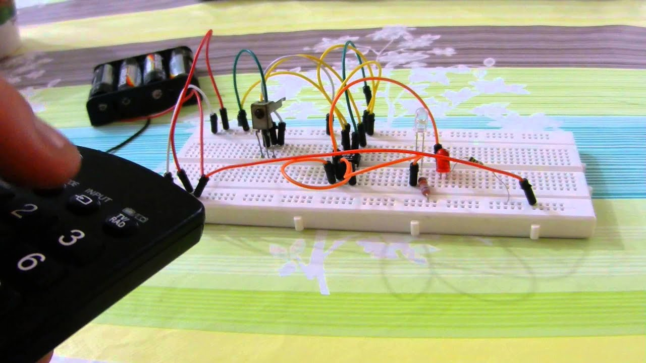 Ir Receiver With Sis 2 Ic Circuit Youtube Repeater Electronic Components