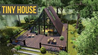 First Tiny House Design In India | Walkthrough |  400 Sqft House  🏡 Eco Friendly 🌲