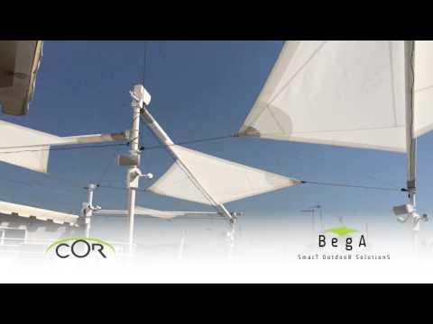 Tenda A Vela Avvolgibile : Bega cor tenda a vela motorizzata con tecnologia ctr tensione