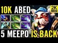 MAX LEVEL MICRO ABED 5x Meepo Aghanim's Gameplay Dota 2
