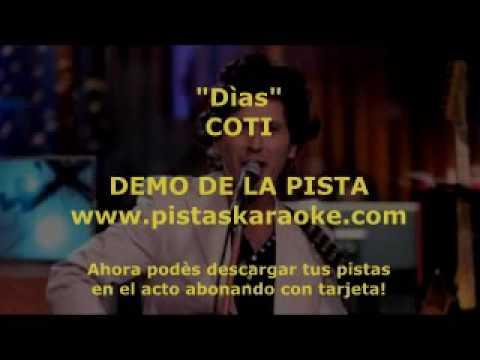 "Coti   ""Dias""  DEMO PISTA KARAOKE INSTRUMENTAL ROCK"