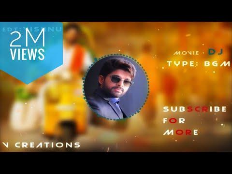 Allu Arjun Intro BGM : DJ | Duvvada Jagannadham Intro BGM