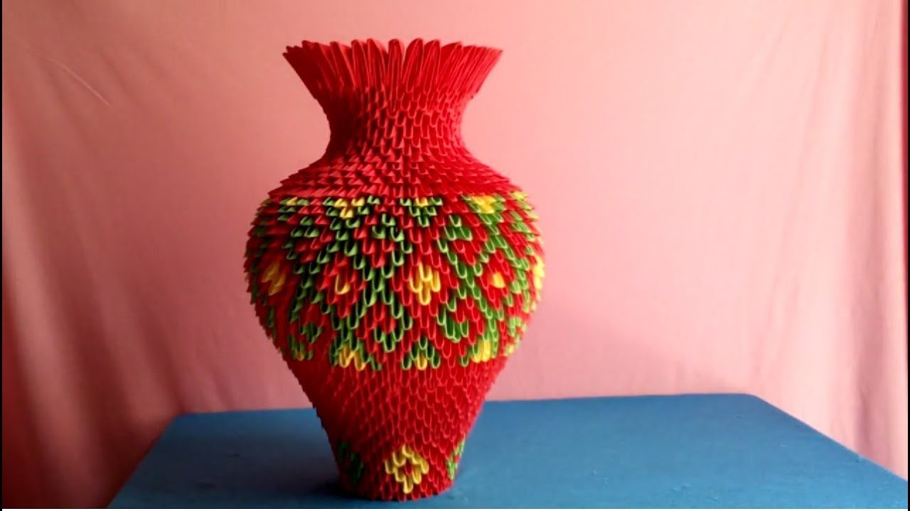 How to make 3d origami vase lm l hoa origami 3d v2 youtube how to make 3d origami vase lm l hoa origami 3d v2 floridaeventfo Image collections