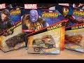 Marvel Hot Wheels Avengers Infinity War - Thanos, Iron Man, Captain America, Thor, Groot, Rocket
