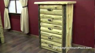 Hickory Logger 5 Drawer Log Chest From Logfurnitureplace.com