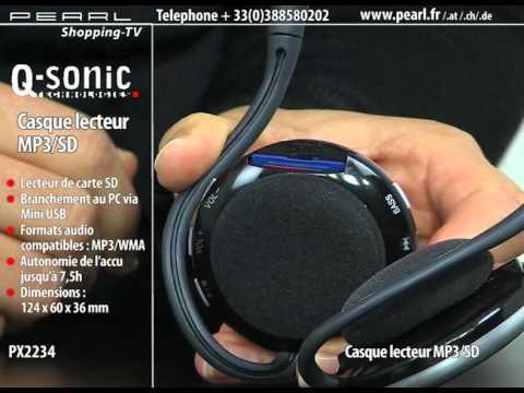 CASQUE LECTEUR MP3/SD
