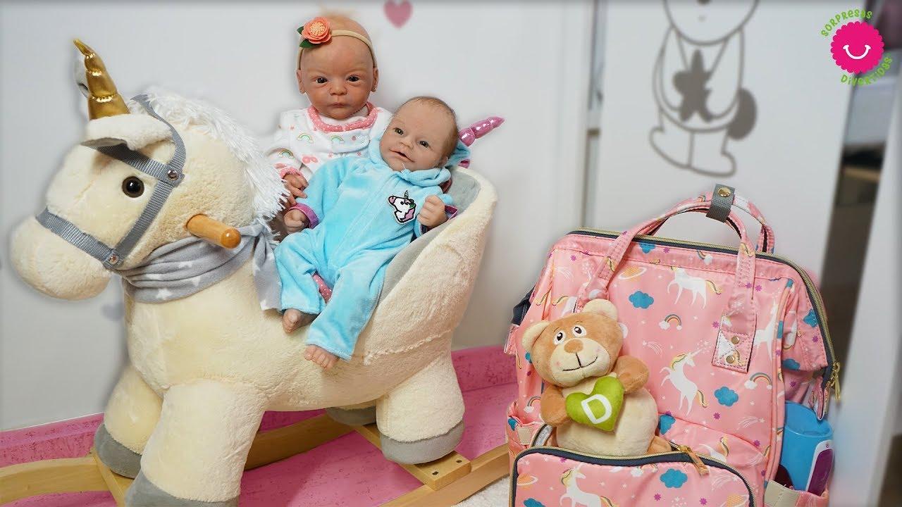 Nuevo Bolso Pañalera De Lindea Y Anuk Para Bebés Reborn Una Mochila De Unicornios Con Darwin