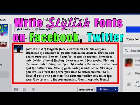 How to write stylish fonts on Facebook, twitter and other social sites. (Hindi / Urdu)