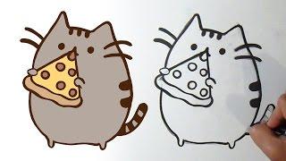Cara menggambar kucing kawaii