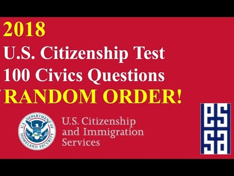 graphic relating to Printable United States Citizenship Test referred to as 2019! US Citizenship Issues inside Random Purchase!