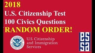 2019! US Citizenship Questions in Random Order!