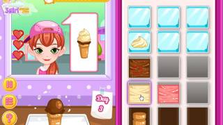 Disney Frozen Sisters Ice Cream Truck Management Game Video