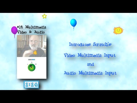 Programming 4 Kids in Scratch 2: Show #14 of 27 - Multimedia input: Webcam and Mic